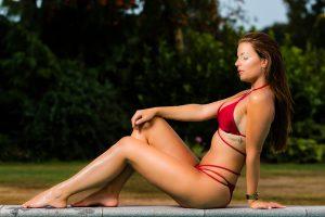 portretfotografie bikini zwembad